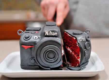 Bolo Câmera Nikon