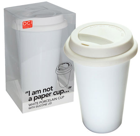"caneca ""I am not a paper cup"""