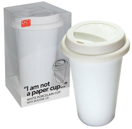 """caneca """"I am not a paper cup"""""""