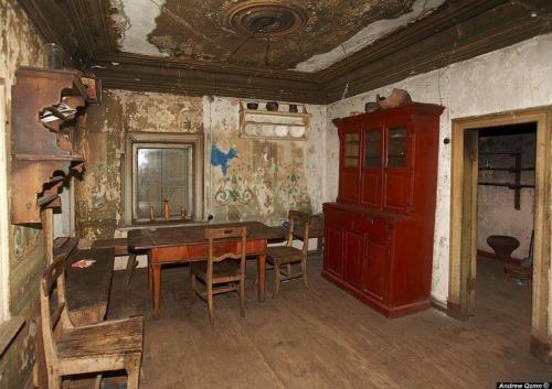 Interior de Mansão Russa Abandonada