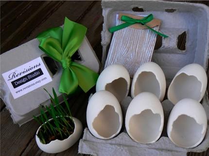 6 vasinhos de casca de ovo de porcelana por $24,95