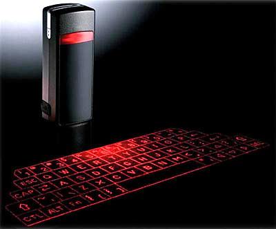 teclado virtual em laser em Teclado e Inovação
