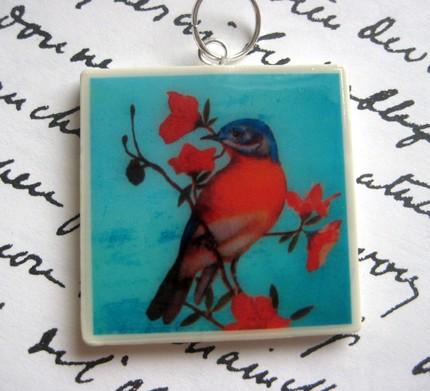 passaro-vermelho-pingente