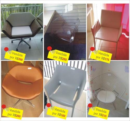 cadeiras vendidas no site Sold Leilões Online