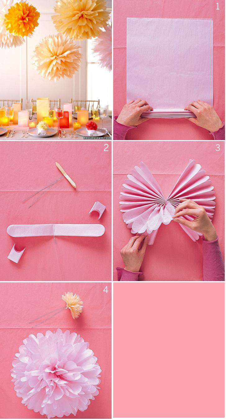 decoracao de interiores faceis de fazer : decoracao de interiores faceis de fazer: pompons de papel? Fáceis de fazer dão um up em qualquer ambiente