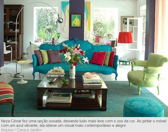 Arte de viver azul turquesa for Sofa azul turquesa