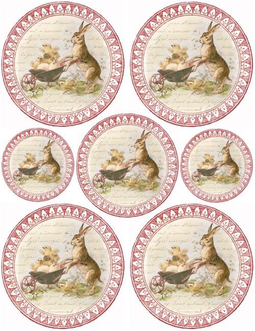 bunny & chicks ~ circular tags