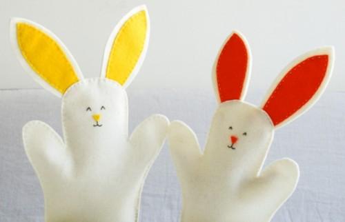 Títeres de conejos de pascua (1)